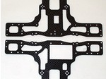 TAMIYA TLT-1 BLACK CARBON FIBER SIDE PLATES (2)