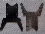 LOSI LST CARBON FIBER SKID PLATES (2 PIECES)