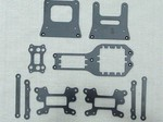 TEAM LOSI MUGGY CARBON FIBER KIT (DUAL SERVO) 10 PIECES