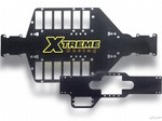 """XTREME MAXX"" CARBON FIBER CHASSIS w/BATTERY STRAPS"