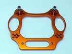 TRAXXAS SLASH STAMPEDE NITRO SPORT ORANGE ALUMINUM FRONT SHOCK TOWER
