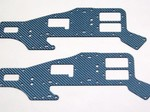 ALIGN T-REX 450 UPPER BLUE CARBON FIBER FRAME SET (2 PIECES)