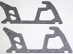 ALIGN T-REX 450 LOWER SILVER CARBON FIBER FRAME SET (2 PIECES)