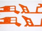 ALIGN T-REX 450 HIGH VISIBILITY ORANGE G-10 FRAME SET (4 PIECES)
