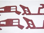 ALIGN T-REX 450 RED CARBON FIBER FRAME SET (4 PIECES)