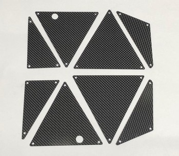 TRAXXAS UNLIMITED DESERT RACER CARBON FIBER PANELS (8pc) (10665)