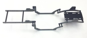 AXIAL RR10 BOMBER BLACK G10 FRAME RAIL KIT (3mm) (11863BG)